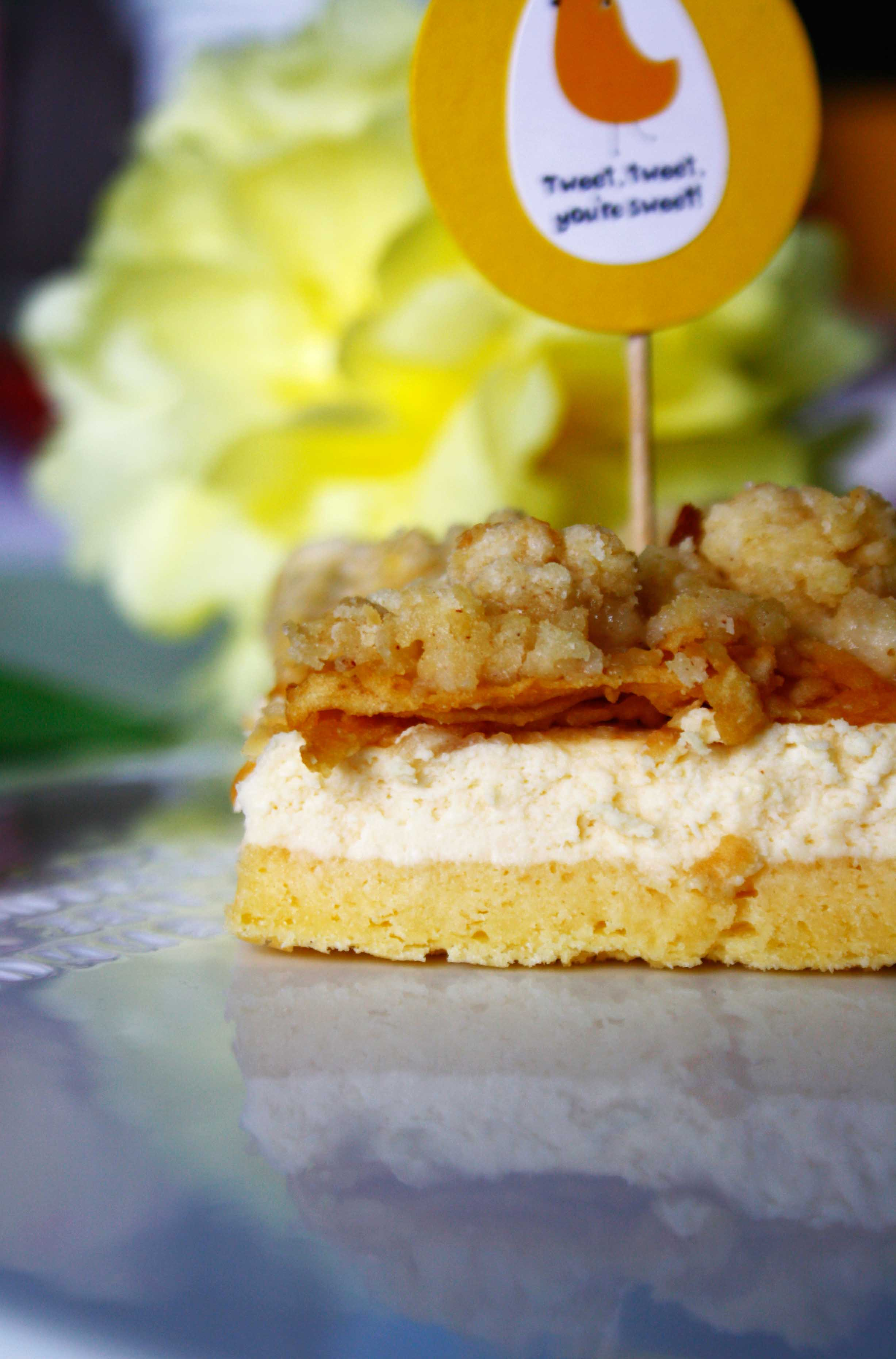 Apfel Streusel Käse Kuchen // Crumble Cheesecake with apple