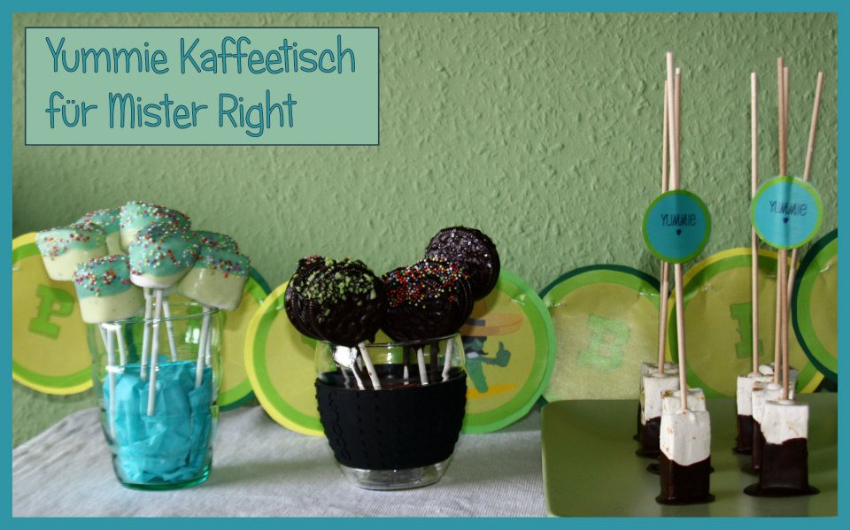 Candy-Table mit Oreos und Marsmallow-Pops