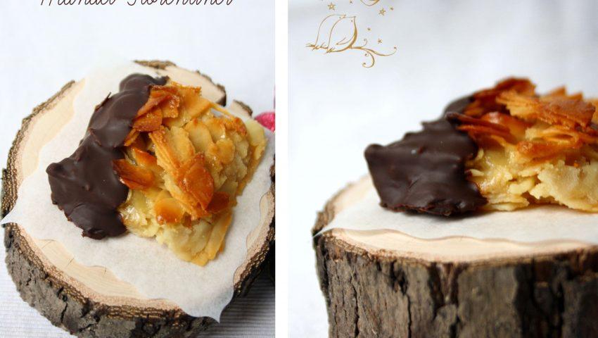 Mandel-Florentiner // german sweets with almond and honey by http://babyrockmyday.com/mandel-florentiner/