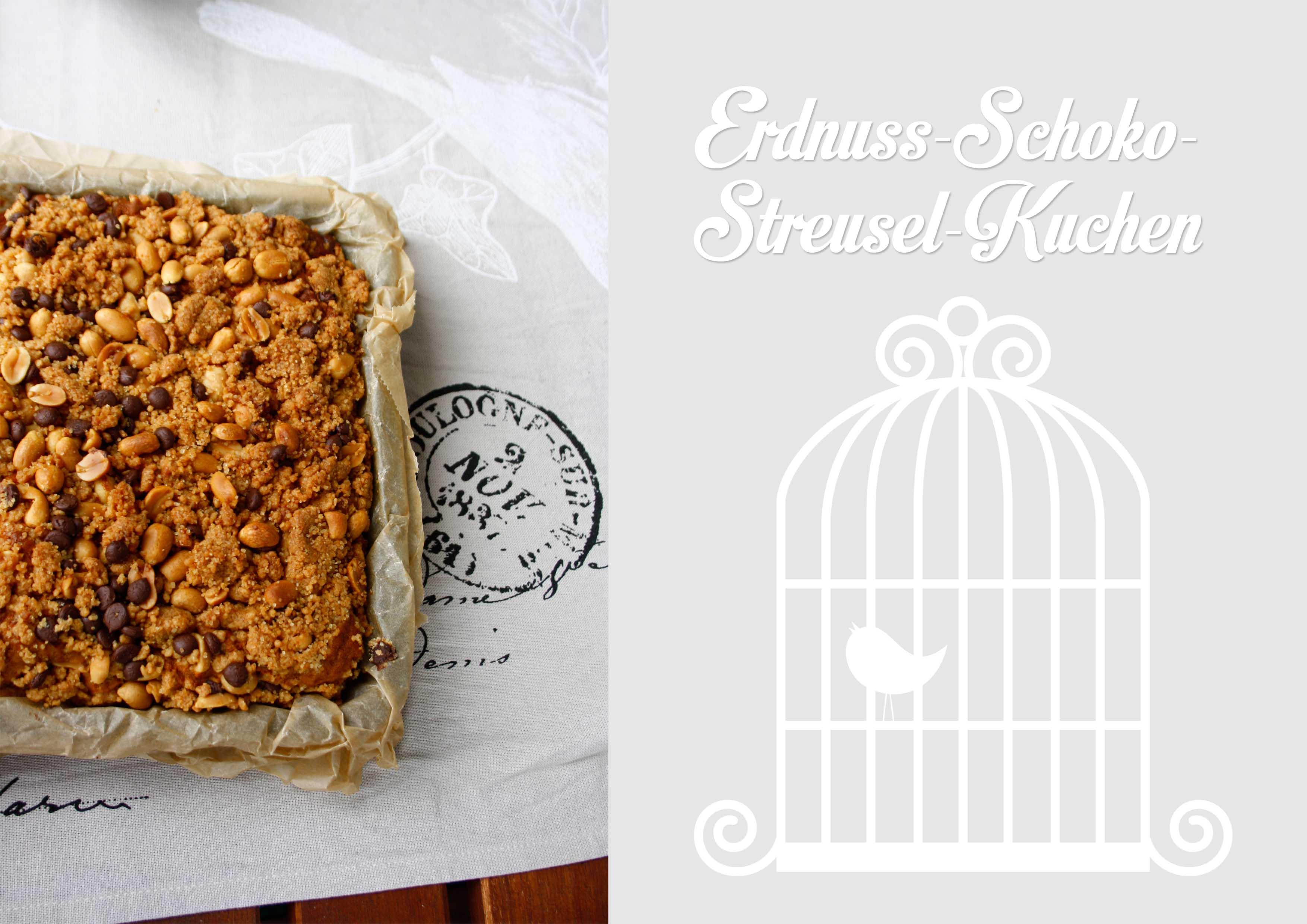 Erdnusskuchen mit Streuseln