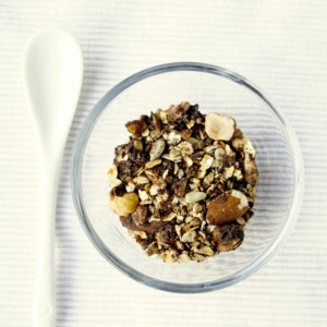 Granola with cacao
