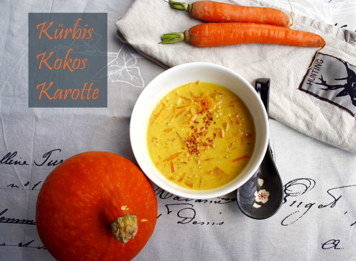 Kürbis Kokos Karotten Suppe // Pumkin coconut Soup by http://babyrockmyday.com/kuerbis-kokos-karotten-suppe/