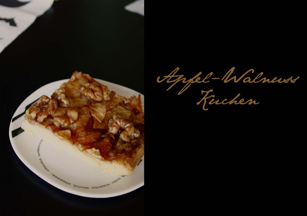 Walnuss Apfel Kuchen mit Zimt-Sirup // apple Pie with Walnuts an cinnamon Sirup