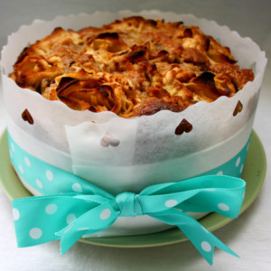 Bratapfelkuchen mit Apfelrose