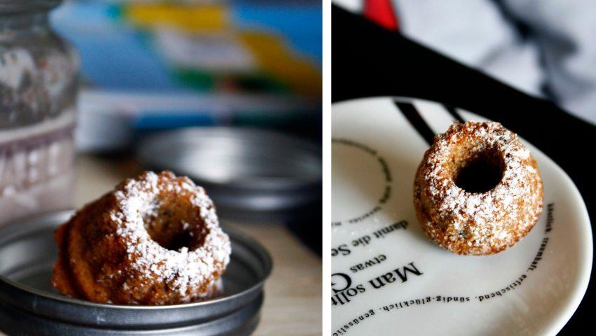 Mini Mandel Gugel // Mini Bundtcakes with almond by http://babyrockmyday.com/mandel-gugel/