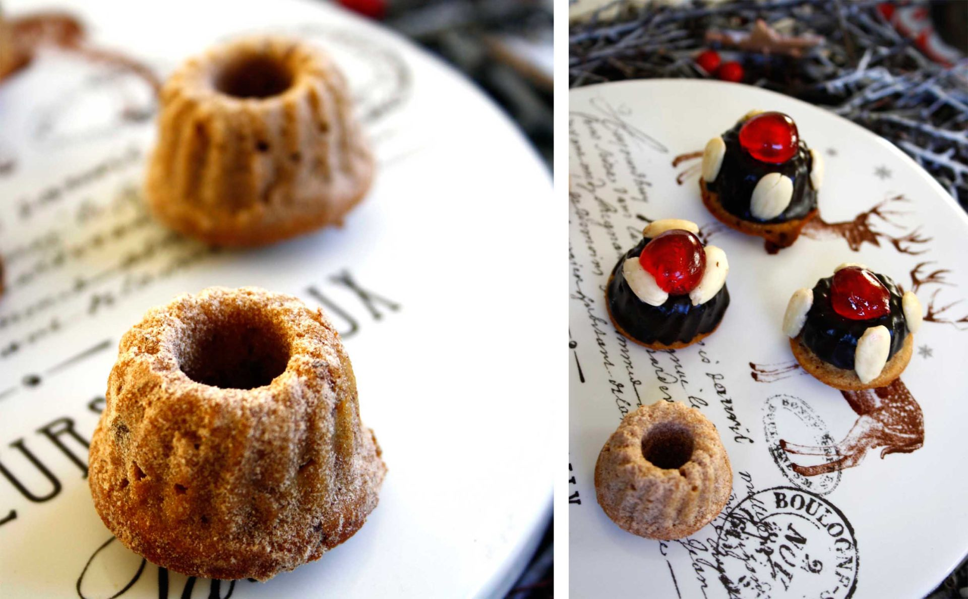 Gugl mit Weihnachtsgewürzen, Marzipan, Rum und Cranberrys // Weihnachtsgugel mit Rum // Mini Christmas Bundt cake with rum by http://babyrockmyday.com/weihnachtsgugel-mit-rum/