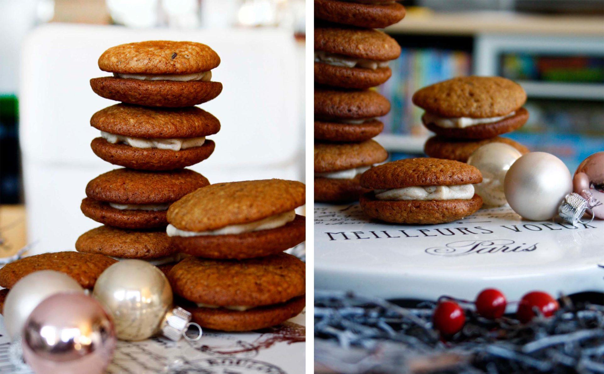 Tipps für Weihnachten: Whoopie Pies mit Ingwer // Xmas Ginger Whoopie Pies by http://babyrockmyday.com/whoopie-pies/