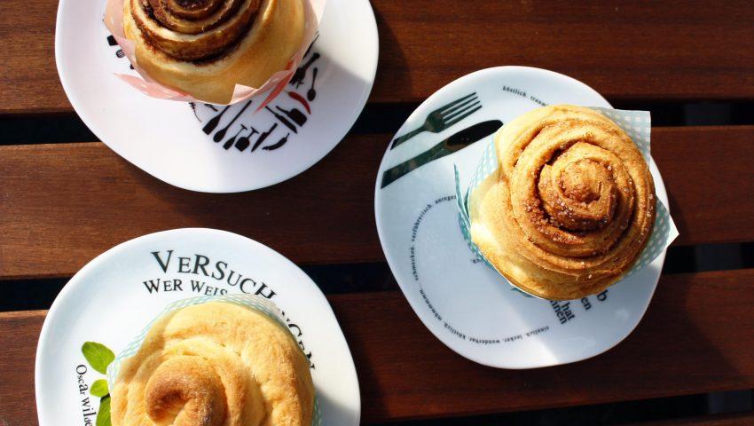Leckere Hefeschnecken // Cinnamon buns by http://babyrockmyday.com/hefeschnecken/