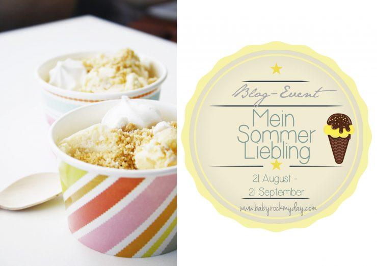 Buttermilch Eis mit Baiser und Streuseln