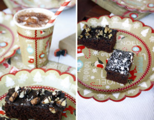 Schnelle Party Deko und Brownies // easy Christmas decoration and some brownies by http://babyrockmyday.com/weihnachtskuchen-brownies/