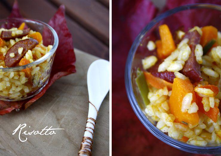 Risotto mit Kürbis und Cabanossi // Risotto with pumpkin