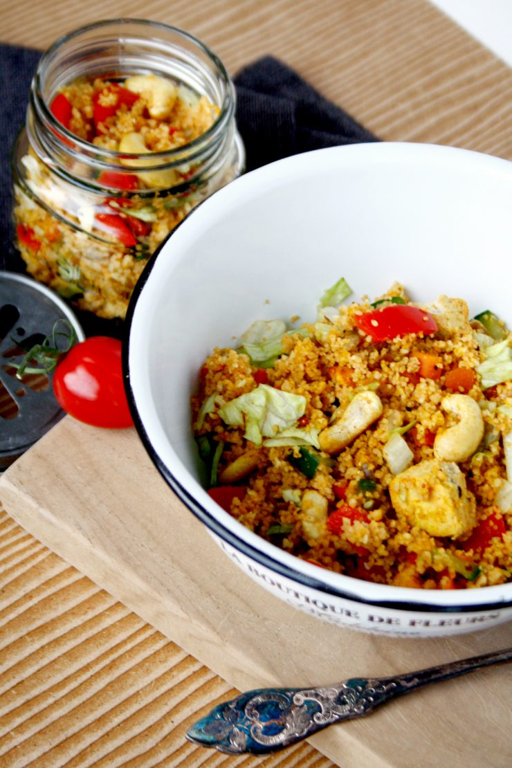 CousCous mit Tofo zu mitnehmen // Couscous to go by http://babyrockmyday.com/couscous-to-go/ ‎