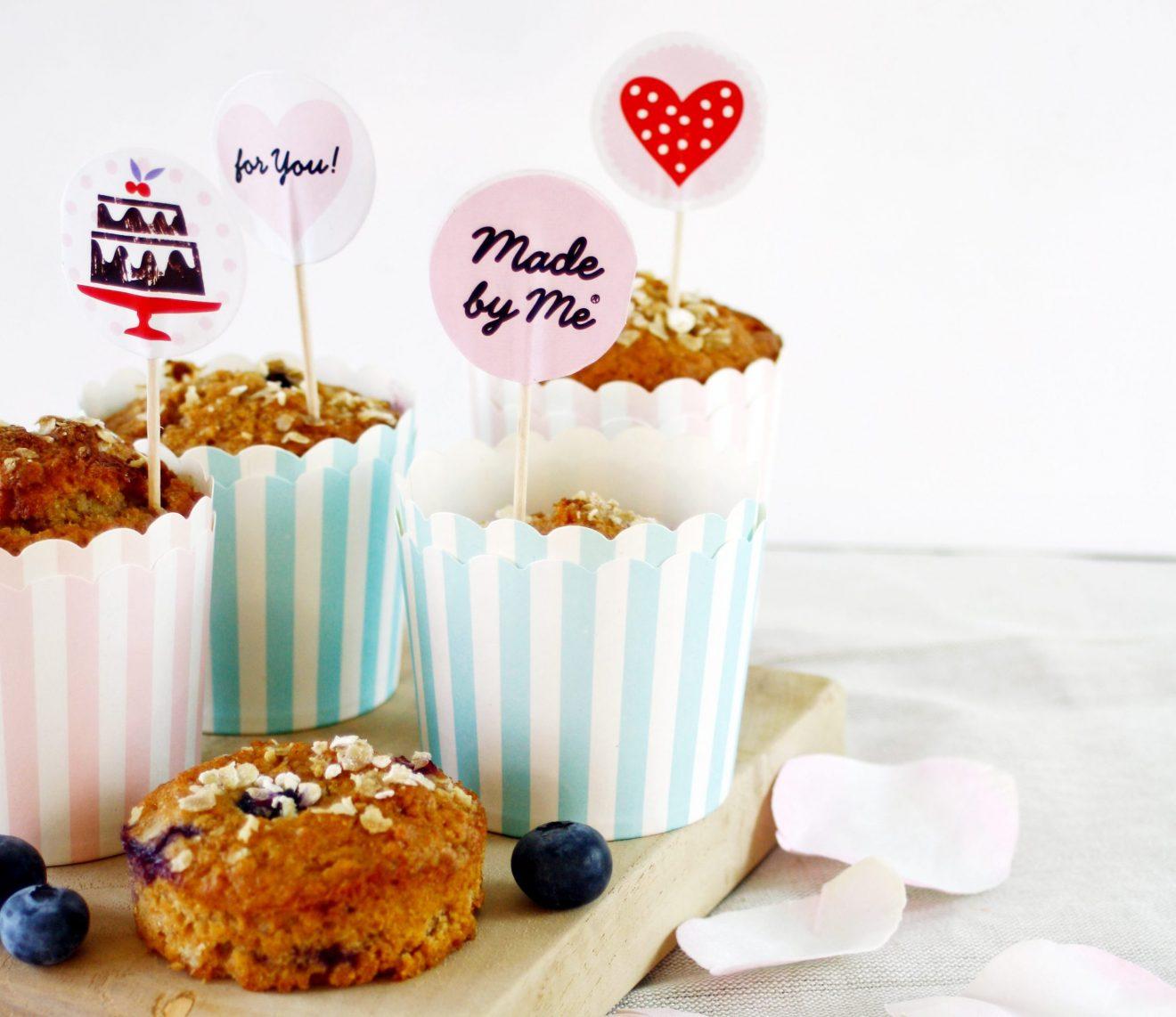 Valentinstag mit Blaubeer Frühstücks Muffins