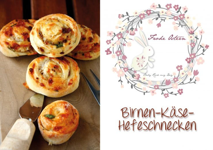 Birnen-Käse-Hefeschnecken // yeast rolls with Pears and Cheese