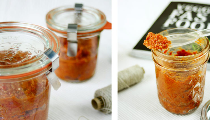 Muhammara ein Paprika Aufstrich // Muhammara a vegetarian spread http://babyrockmyday.com/muhammara/