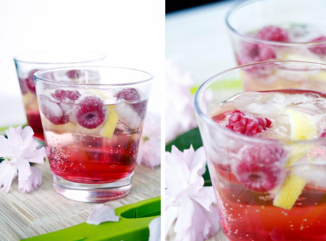 Rhabarber Granatapfel Drink und die Party kann kommen