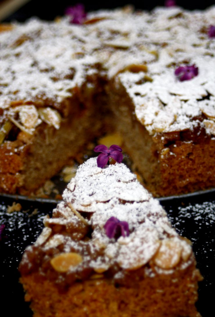 Rhabarberkuchen mit Zimtstreuseln // Rhubarb Cake with cinnamon Crumble