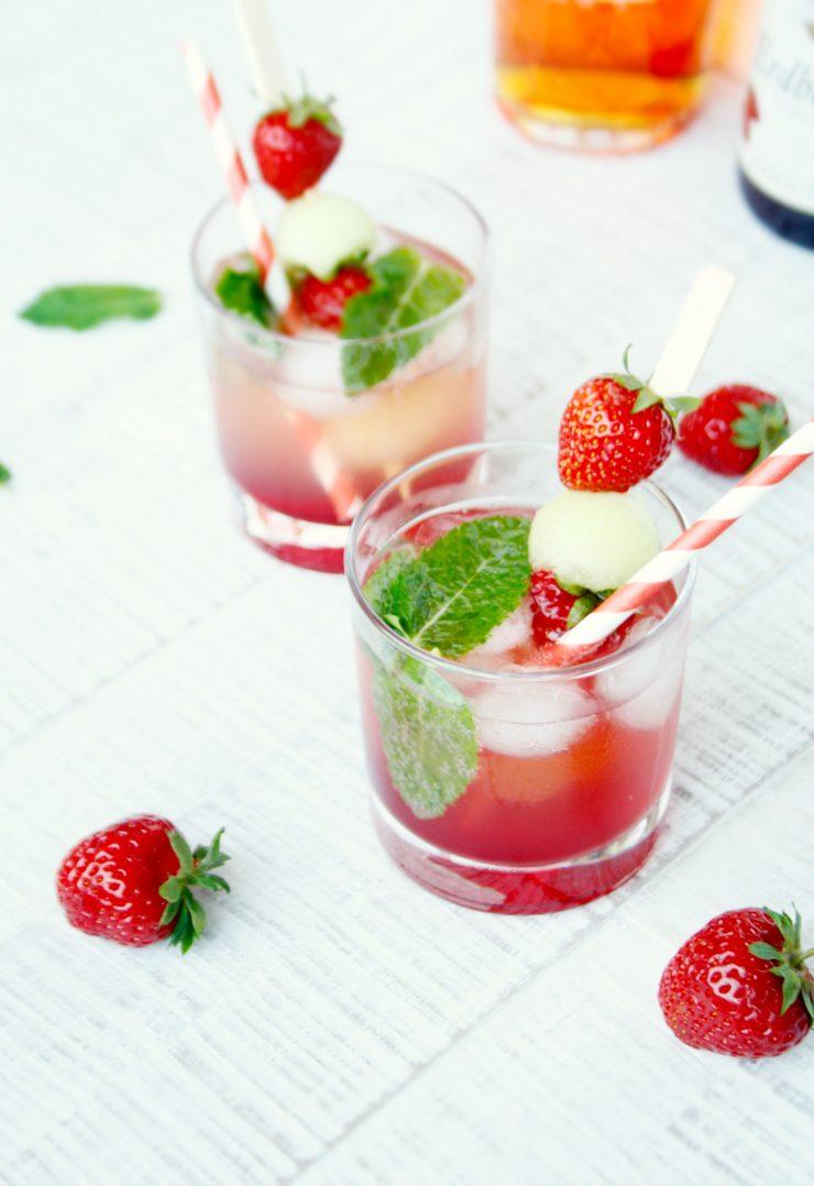 Erdbeer Gin Smash