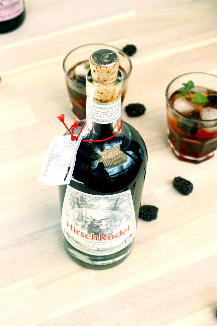 Hirschrudel Brombeer Drink alias Woodland Rider // herbal liqueur with Blackberry
