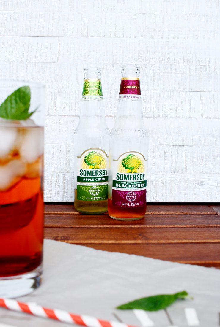 Waldmeister und Brombeer Drink mit Somersby // Drink with Blackberry and sweet woodruff