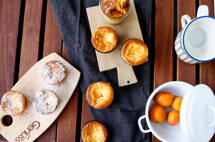 Aprikosen Küsschen // Muffins with mascarpone and Apricots