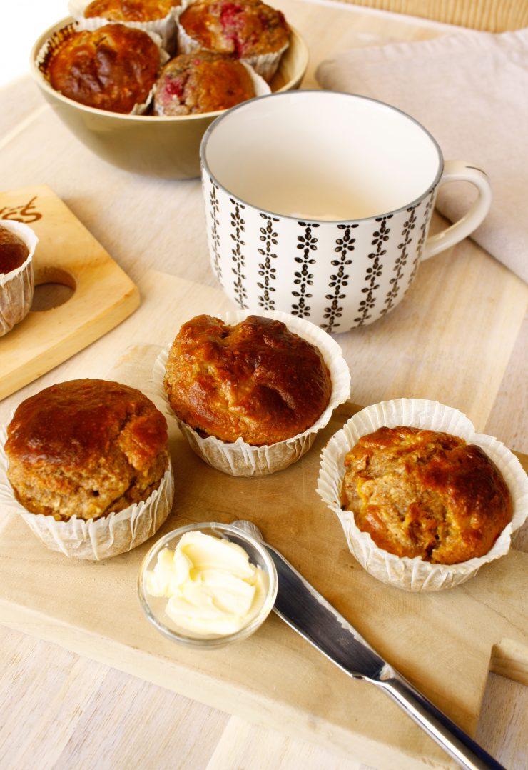 Frühstücksmuffins mit Hirse und Früchten // Breakfast Muffins mit Fruits by http://babyrockmyday.com/fruehstuecksmuffins-mit-hirse/