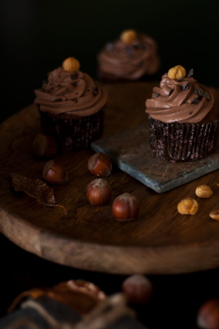 Haselnuss Cupcakes // Hazelnut Cupcakes by http://babyrockmyday.com/hasenuss-cupcakes/