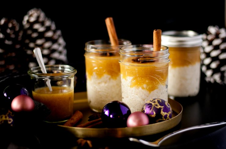 Winter Milchreis mit Orangen Vanille Sauce // Rice Pudding with Vanilla Orange Sauce by http://babyrockmyday.com/winter-milchreis/
