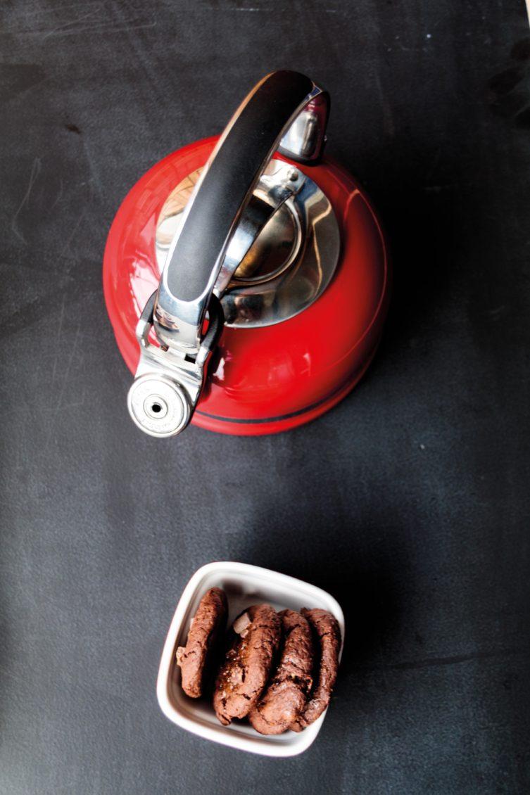 Karamell Cookies, Kitchen Aid und viel Tee // Caramel Cookies by http://babyrockmyday.com/caramell-cookies/