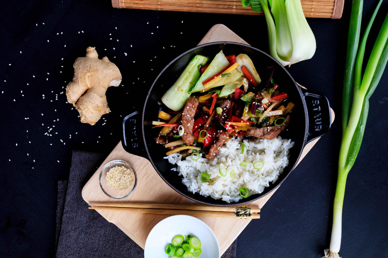 Mongolische Gemüsepfanne mit Rindfleisch // Mongolian Beef and vegetables by http://babyrockmyday.com/mongolische-gemuesepfanne-mit-rindfleisch/1