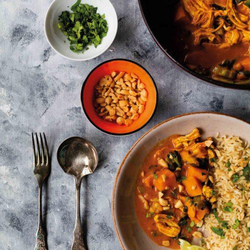 Afrikanischer Eintopf mit Huhn // African Stew with chicken by https://babyrockmyday.com/afrikanischer-eintopf-mit-huhn/ #eintopf #afrikanischereintopf #africanstew