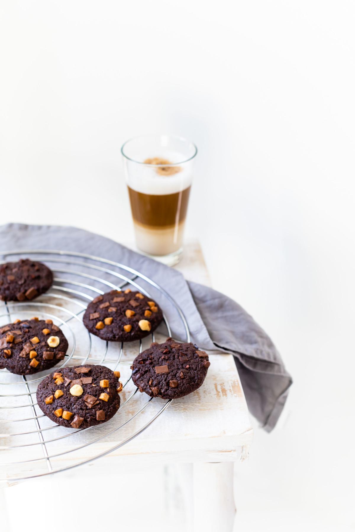 Triple Chocolate Cookies by https://babyrockmyday.com/triple-chocolate-cookies/