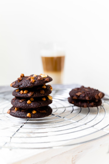 Triple Chocolate Cookies by https://babyrockmyday.com/triple-chocolate-cookies/