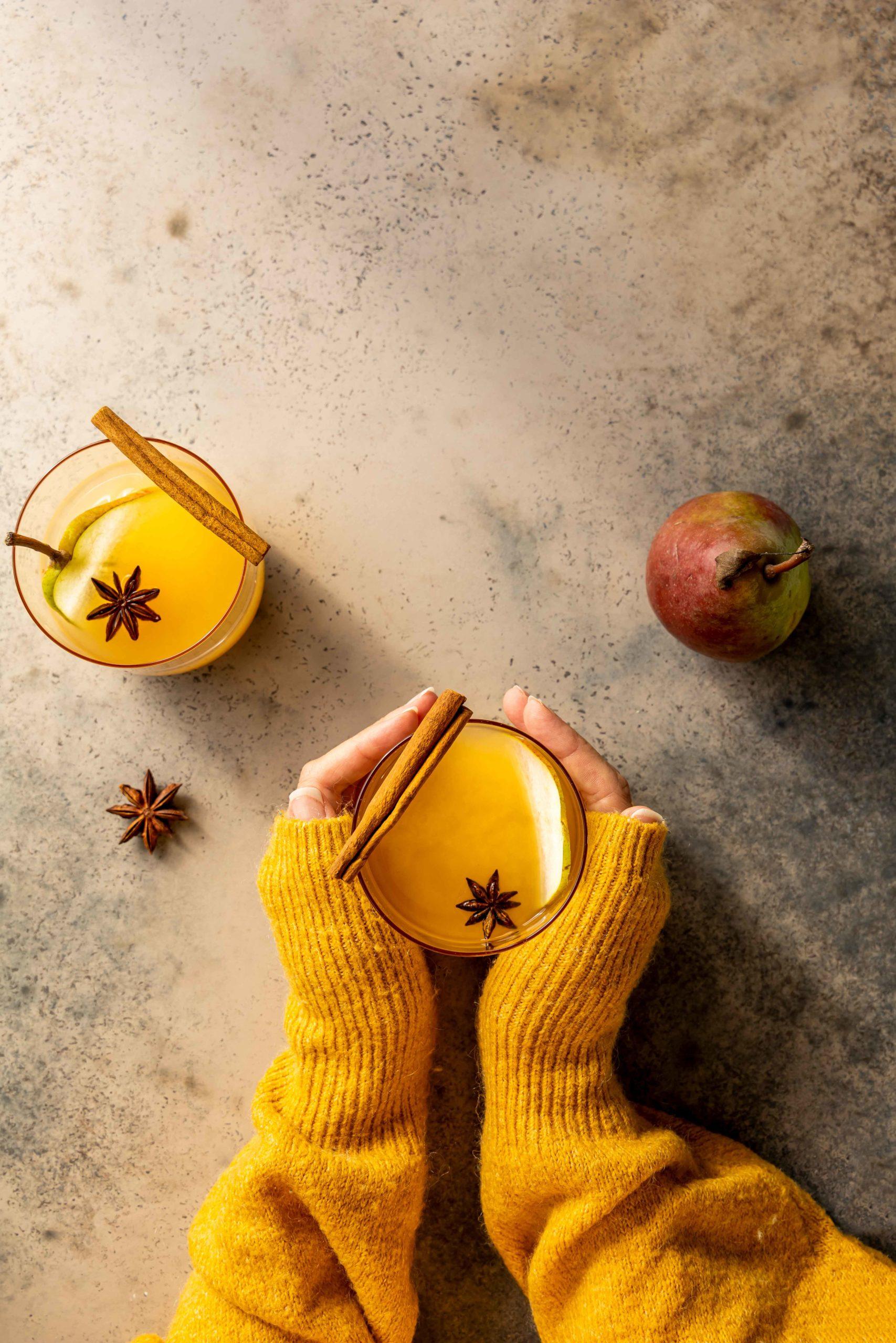 Herbstlicher Birnenpunsch // Pear Punch by https://babyrockmyday.com/birnenpunsch/