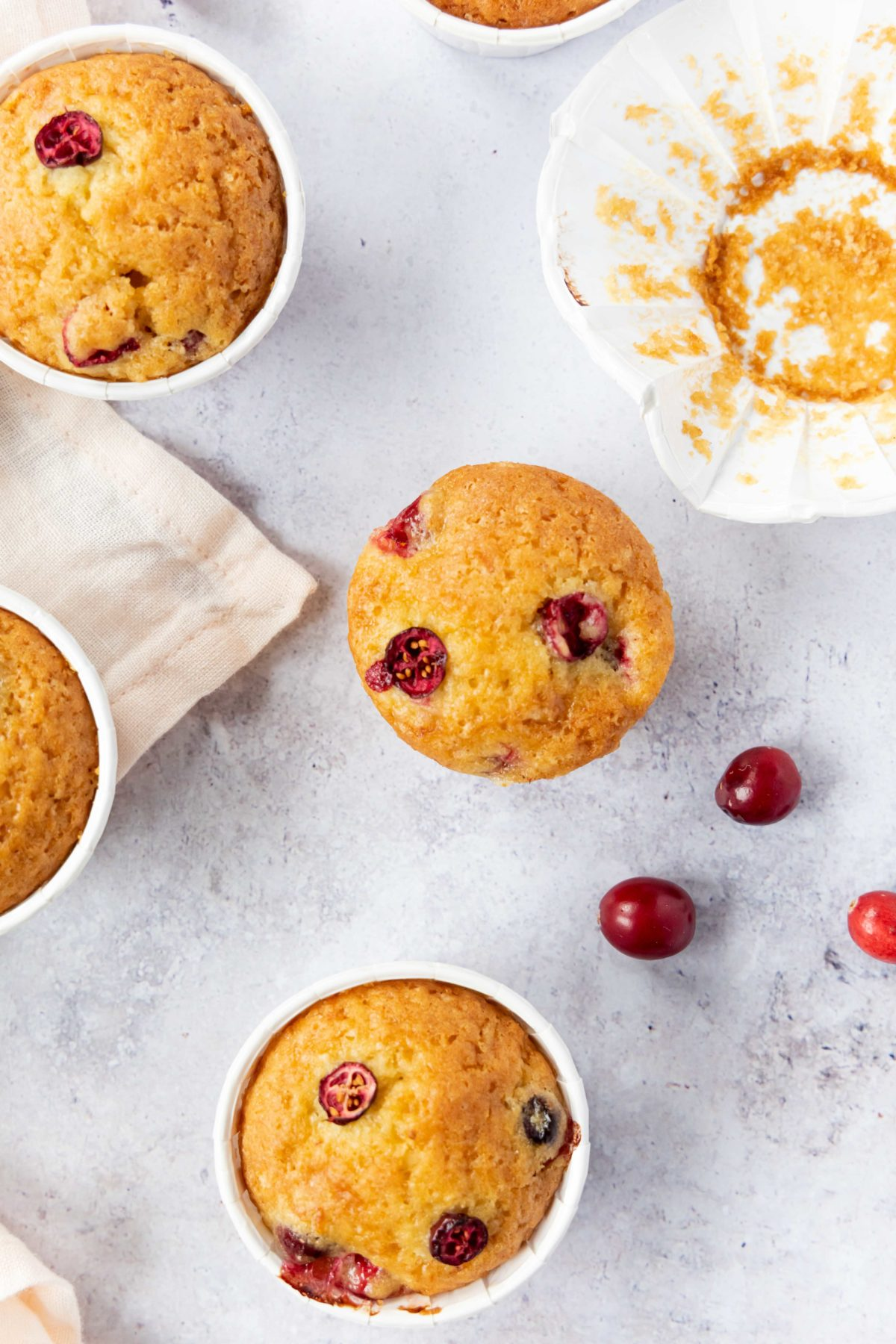 Vegane Cranberry Orangen Muffins // vegan cranberry and orange muffins by https://babyrockmyday.com/vegane-cranberry-orangen-muffins/